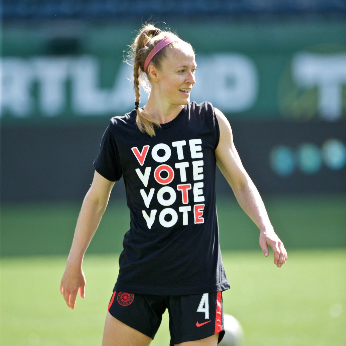Educate. Elevate. VOTE. Register. Make a Plan. VOTE. Support @WhenWeAllVote with your own @ThornsFC & @TimbersFC VOTE tee 👉 ShopThornsFC.com. #BAONPDX #RCTID