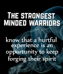 Forge your spirit.  Take that hurtful experience and learn from it.  Use your Warrior MIndset. #Warrior #spirit #experience https://t.co/JeGNc9sn4L