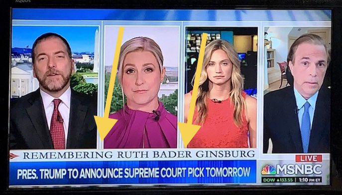 "#MTP #MTPDaily @MSNBC @chucktodd @kasie @mitchellreports @carolelee @BeschlossDC @MeetThePress DOES THIS 👇🏽👇🏽👇🏽 MAKE SENSE?  ""Remembering Ruth Bader Ginsburg"" by focusing almost entirely on Trump —endlessly discussed in THIS segment, the one that followed + one airing now. 🙄 WTF https://t.co/xvPjPJLzNh"