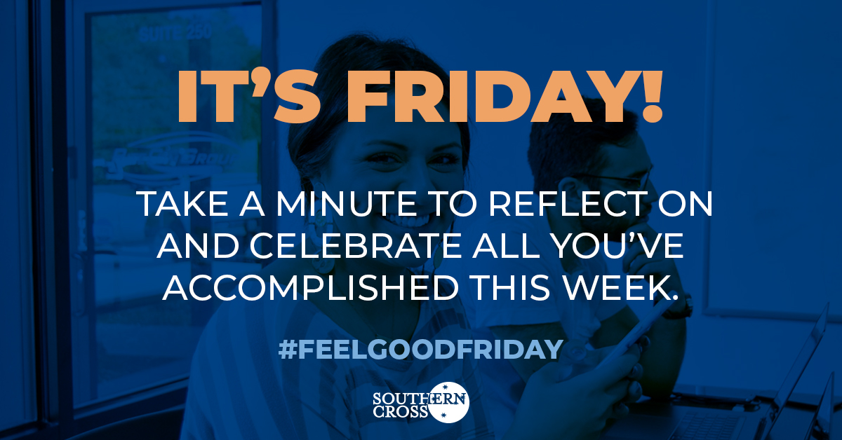 What did you accomplish this week? Let's celebrate your achievements. #FeelGoodFriday #SouthernCross https://t.co/meeqEI73NX
