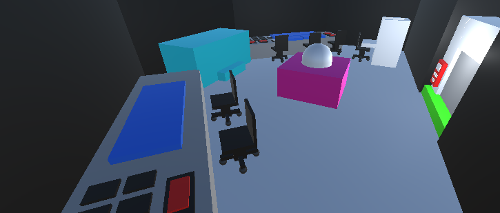 wanted to share what one of the rooms looks like so far! So feel free to share your opinion of the room. The purple block is a thing for another system. the capsule is the player  #gamedev #unity3d #programmer #IndieGameDev https://t.co/caPmPmVjfx