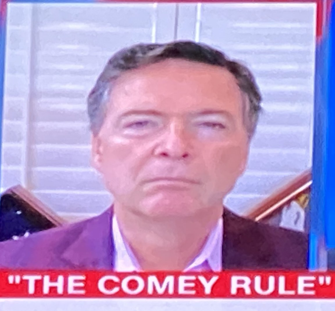 """Jim Comey today pushing @Showtime's """"The Comey Rule.""""  Apparently, """"the rule"""" includes entrapment, fraudulent sources, and abusive investigations all to destroy a presidency. https://t.co/B2pc3ayj7R"""