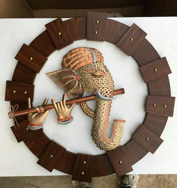 COPPER BABA ™  Brown Metal Colorful Ganesh Wall Art Add a vibe of cr..For more info visit...https://t.co/ea8d9i7ZrK https://t.co/8r4Oxyz5ti