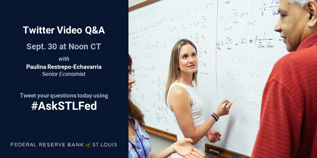 Want to know how economic theory can be used to find a partner in life? Join our Twitter video Q&A with @paures12 to find out more. Tweet your questions in advance using #AskSTLFed #EconTwitter https://t.co/nCmQNTjIlf