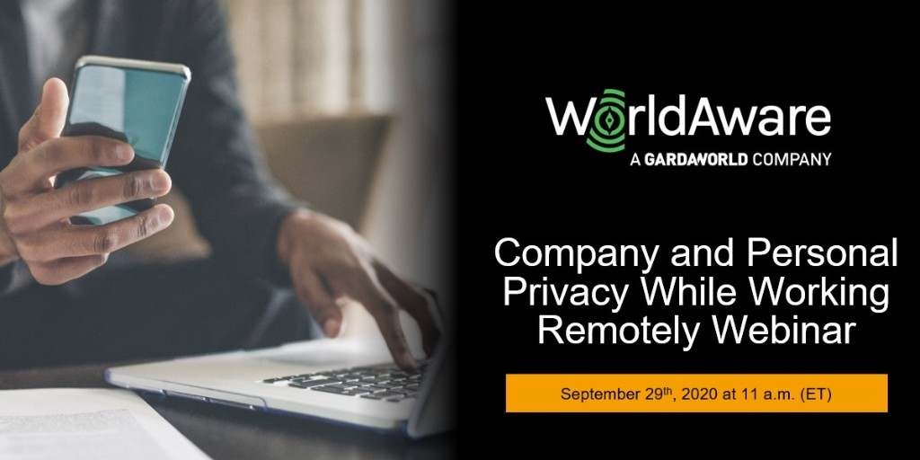 Moderated by Bruce McIndoe, Founder of @WorldAwareIntl - a GardaWorld company, this #GBTA Collaboratory session will cover the organizational security and privacy issues that arise from working remotely and good practices.  Register here: https://t.co/0aRep1ZxN7 https://t.co/4yiq2SZoOJ