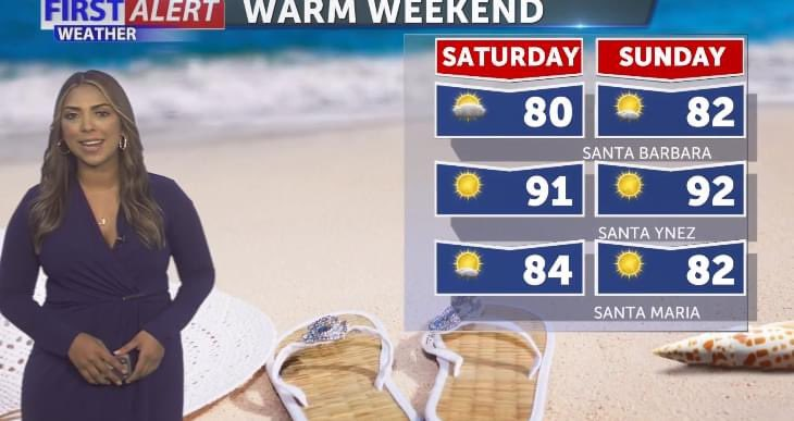 Happy Friday! Enjoy a nice, warm and sunny weekend.  A heat wave will begin from Sunday and through Friday. https://t.co/HKxFQvcov4