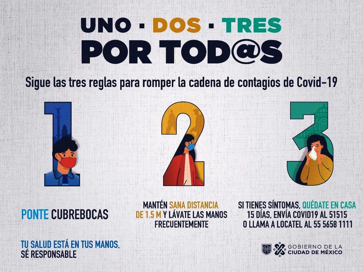 La próxima semana la Ciudad permanece en 🚦🟠 #SemáforoNaranja Mientras no haya vacuna: ¡usa cubrebocas! 😷