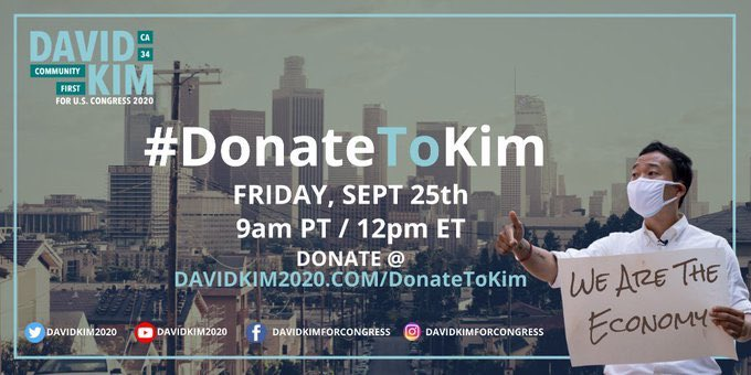 #DonateToKim TODAY!   @davidkim2020 extraordinary campaign NEEDS our SUPPORT!   Donate @ https://t.co/DGKBioGVX4 right now! 😄👍  Together we can put #YangGang into Congress! https://t.co/IreISLPsOr
