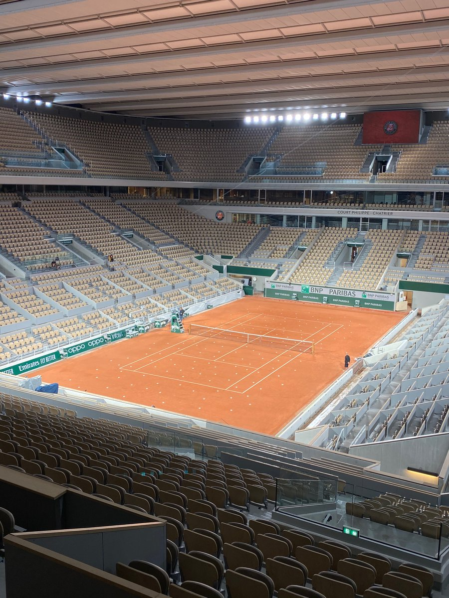 Calibration in progress for @Hawkeye_view at @rolandgarros 👌🎾 #tennis #sportstech #Innovations #frenchopen https://t.co/cx7aERGTaG