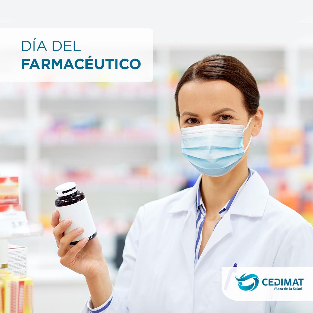 En el día del farmacéutico queremos destacar la labor fundamental que desarrollan en favor de la seguridad del paciente, promoviendo el buen uso de los medicamentos.  ¡Feliz día!  #CEDIMAT #salud #Farmacéutico https://t.co/uyJb24uiRp