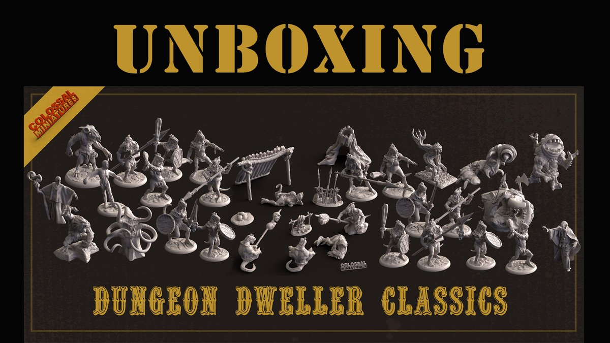 Unboxing @ColossalMinis premieres tonight at 5 pm CST.  If you like 3d printing minis, these are absolutely stunning! https://t.co/Dl1Y9PuStE  #ColossalMiniatures #minis #unboxing #miniatures #3Dprinting #3Dprinted #dnd #TTRPG https://t.co/jafs08KieQ