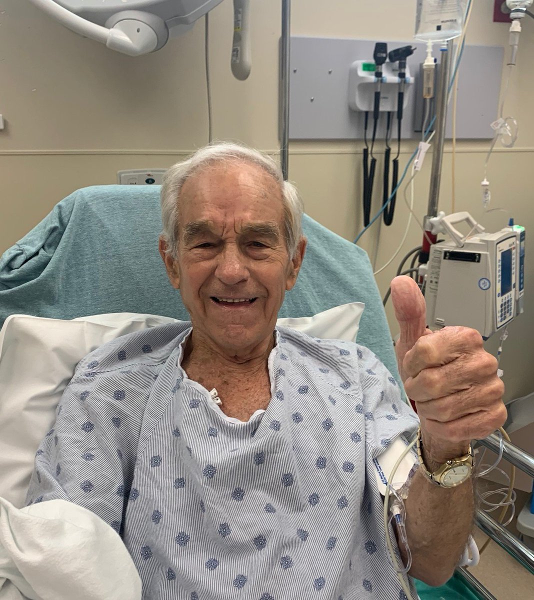 "Message from Ron Paul: ""I am doing fine. Thank you for your concern."""