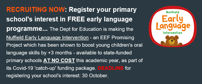 FREE early language programme available to state-funded schools  Find out more: https://t.co/50l9qC4CHs Register your school's interest: https://t.co/OBbva7h3im https://t.co/rtFY7CxMIE