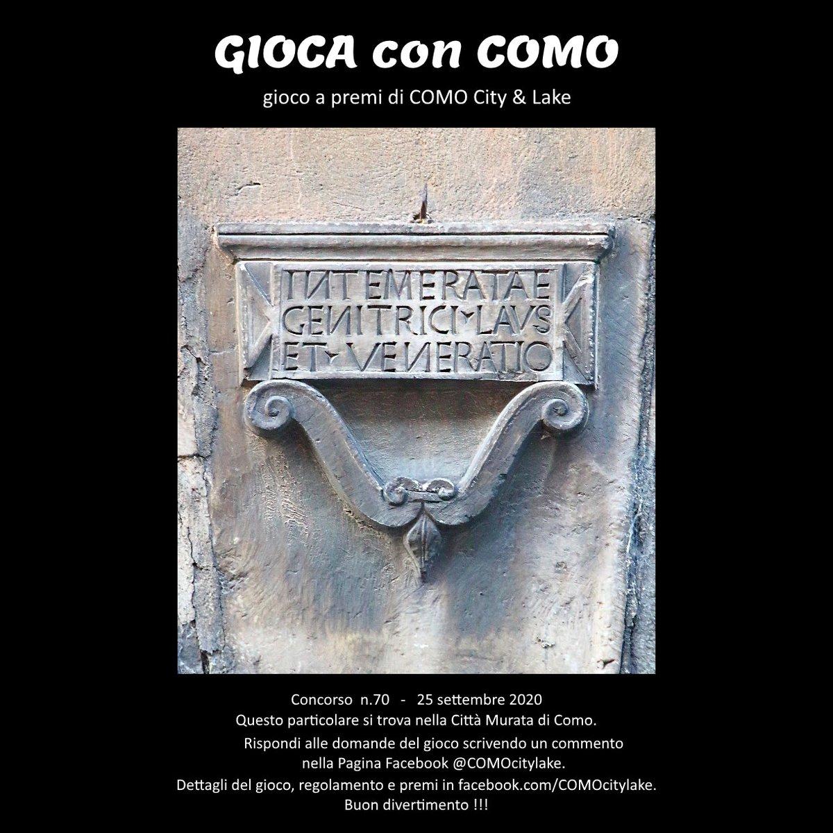 """""""GIOCA con COMO"""" il gioco a premi di """"COMO City & Lake"""". Il Concorso n.70 è iniziato nella Pagina Facebook https://t.co/hAkjQWHAwd . I miei social: https://t.co/OLY3bspNyz + https://t.co/azHPsTlg4a #Como #LakeComo #ComoLake #LagodiComo #Lario https://t.co/xRkC5P1v6p"""