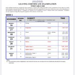 Image for the Tweet beginning: The Leaving Cert exam timetable