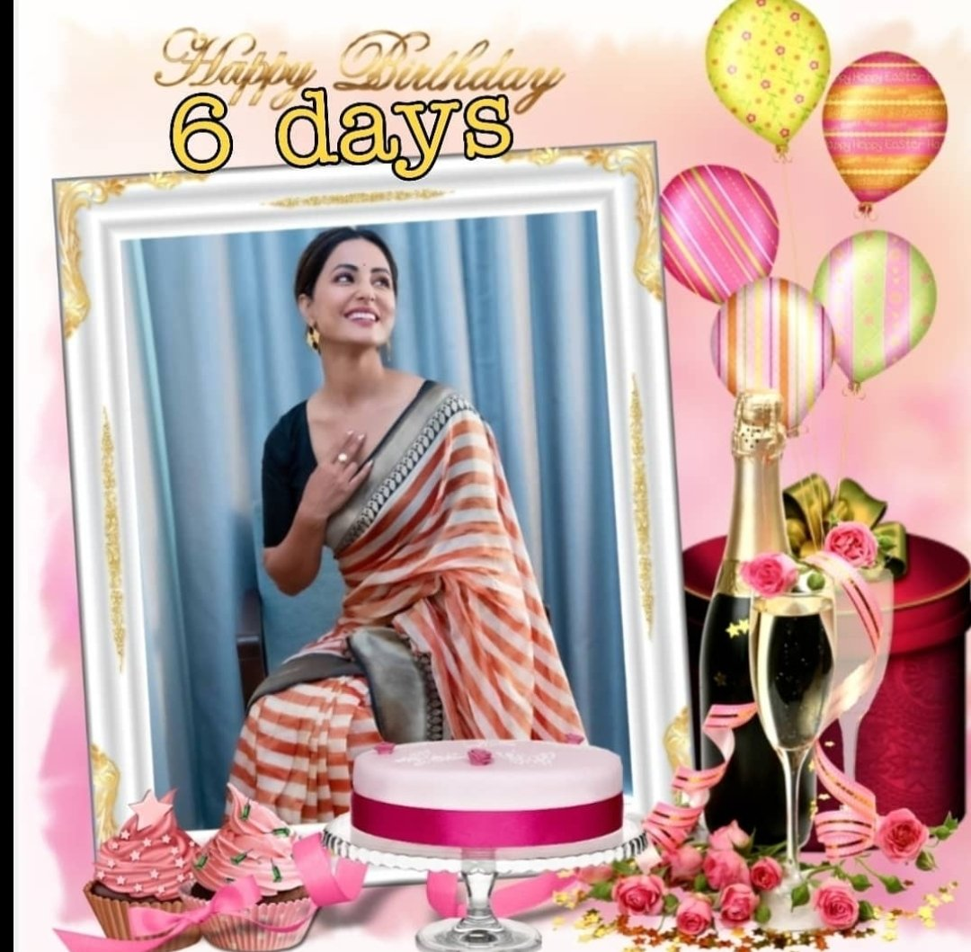 THE BIGGEST DAY IS JUST NEAR 6 DAYS TO GO LOVE 😍 #HinaKaBdayIn6Days #QueenHinaKaBdayBash #hinaholicskatyohar #HinaKhan @eyehinakhan https://t.co/V6v6IeyOlc