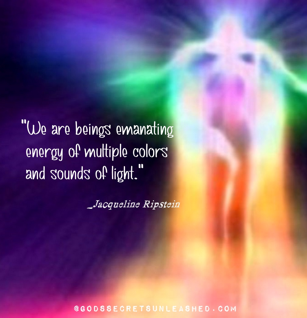 """""""We are beings emanating energy of multiple colors of sounds and light."""" _Jacquelinte Ripstein #true #selves #souls #divine #universal #energy #vibrations #souns #colors #awareness #creation #growth #purpose #experience #oneness https://t.co/sr6s9m0XwJ"""