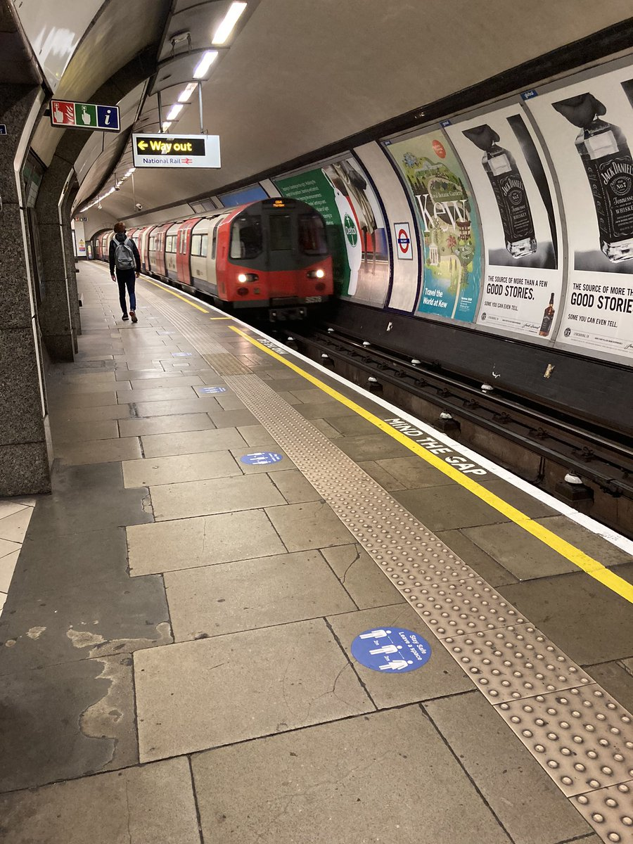 First time on tube for 6 months (normally cycle or walk around #Balham). Even at rush hour I had the place to myself going south to Morden. #WFH evident. https://t.co/hMri1Y8sjG