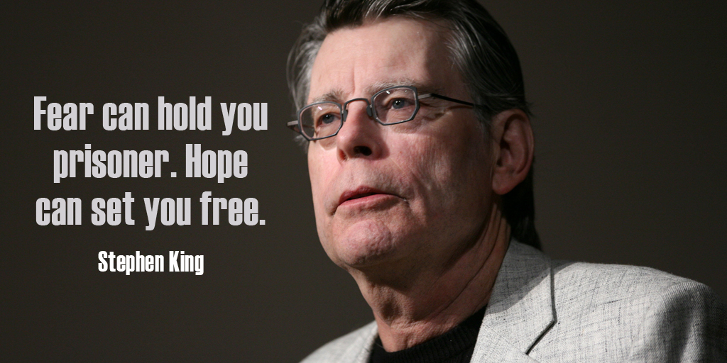 Fear can hold you prisoner. Hope can set you free. - Stephen King #quote #ThursdayThoughts https://t.co/adTBMMB9mc