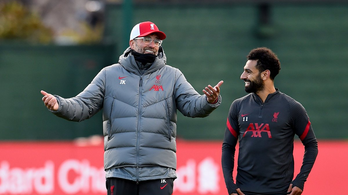 Things you love to see 🥰  The boss x @MoSalah 😁😁 https://t.co/WKSpGGQDBM