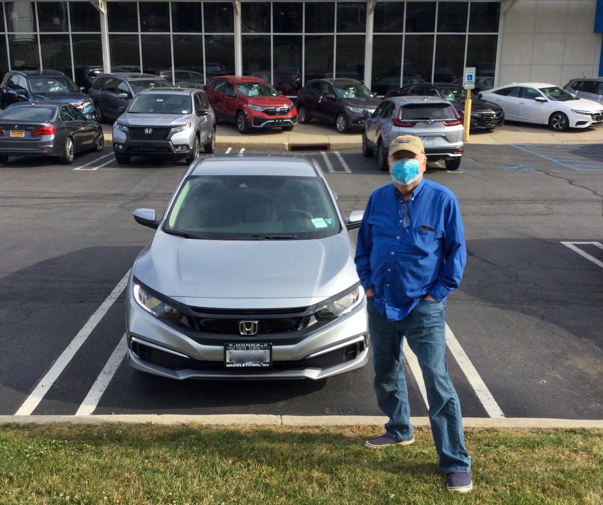 Here's Syd with his new 2020 #HondaCivic! This is Syd's FOURTH #Civic from #MiddletownHonda! WOW! Thanks for being a part of the Middletown Honda family!  Is it time for your #New Ride? Visit us today, or shop online at https://t.co/QY8ej7jJVq https://t.co/ObEHppA3mG