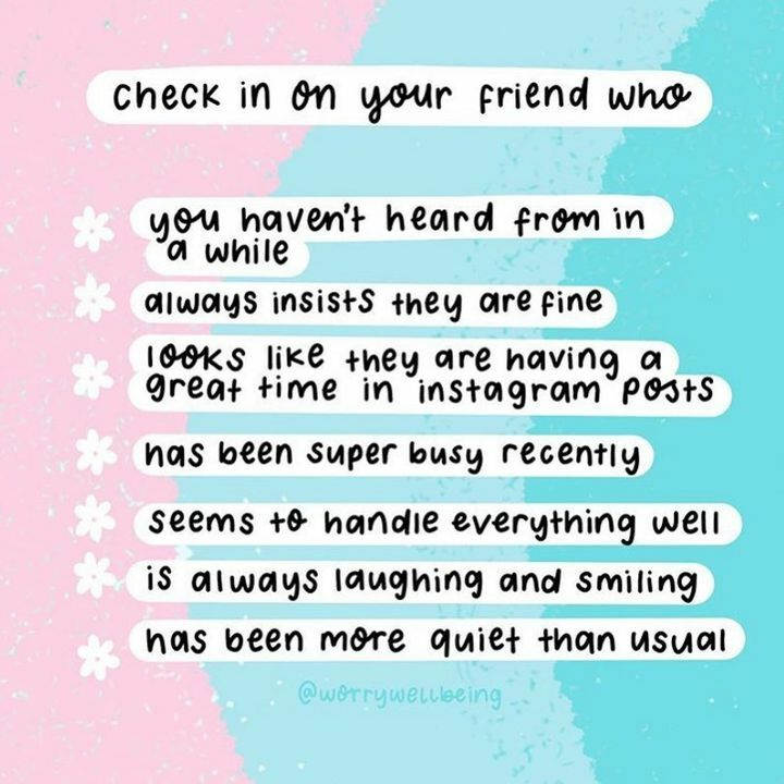 Life is constantly changing at the moment and we are all focussing on adapting but when you can, take the time to check in on friends.  #checkin #areyouokay https://t.co/ubwFH8r3Bc