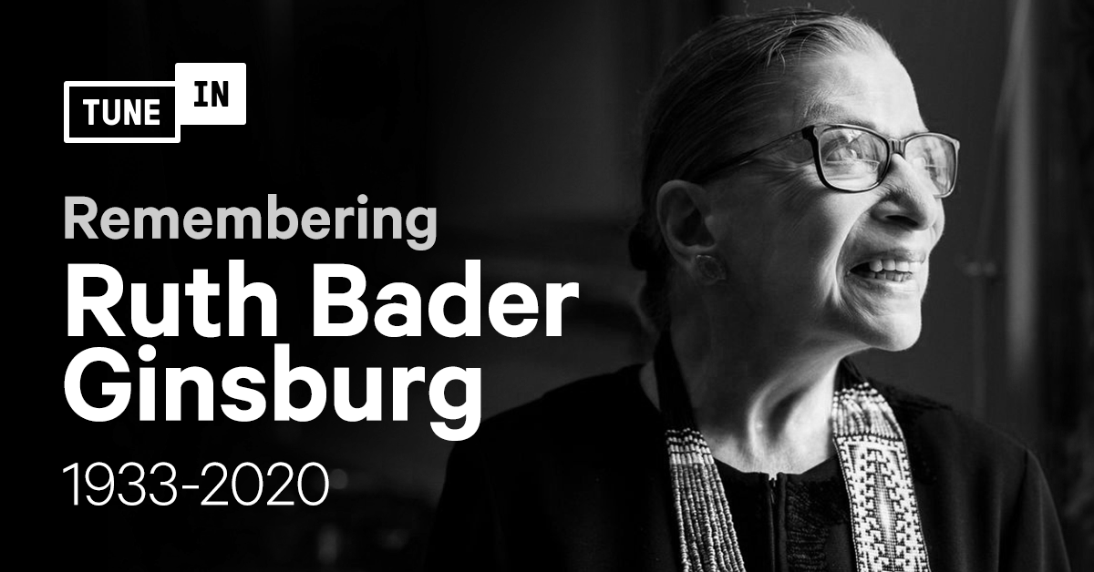 TuneIn honors the life and legacy of Ruth Bader Ginsburg as she becomes the first woman to lie in state today.  https://t.co/VnefIMFc2K https://t.co/8ByCEfBFly