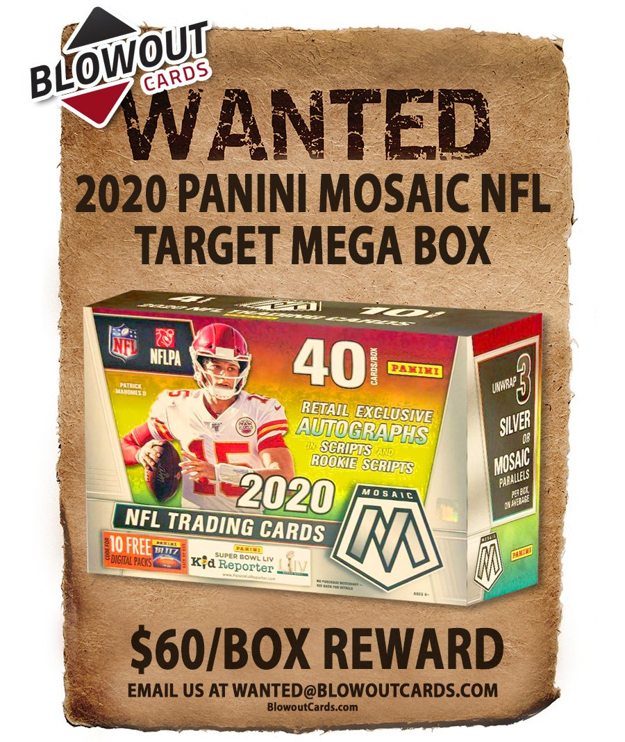 Among several updates today.   There are 100+ past Panini boxes in the Blowout's Most Wanted Megapost -- see all here >> https://t.co/itTrhLvcST #collect  @PaniniAmerica #TheHobby #NBA #NFL #MLB #FOTL https://t.co/fdseMQc85M