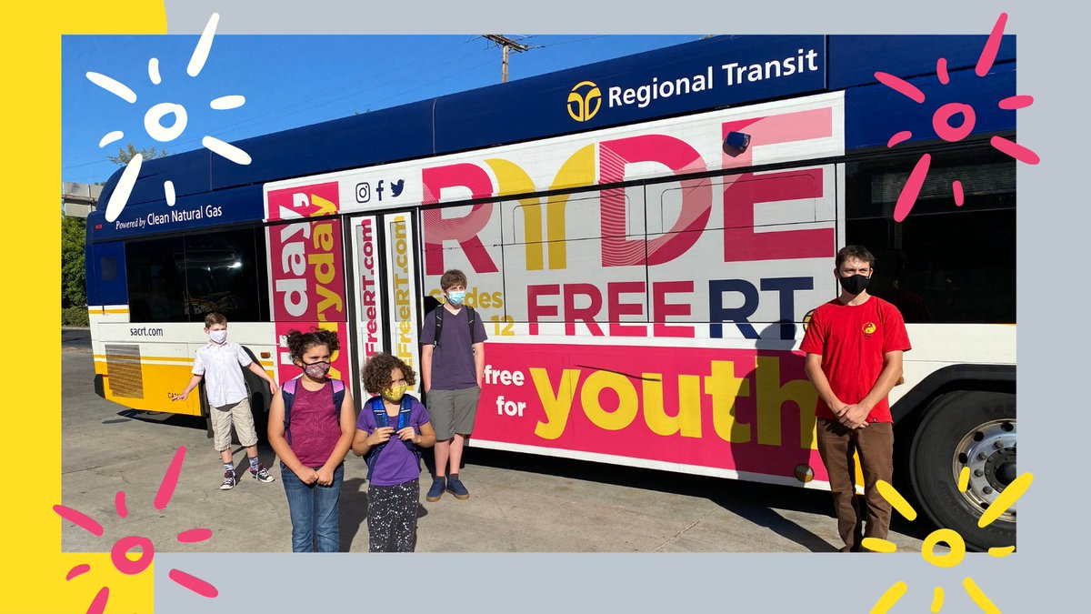 Great news! Students/youth don't need a #RydeFreeRT sticker to ride transit, simply show a student ID or RydeFreeRT card. Students/youth who don't have an ID card can visit SacRT's Customer Service & Sales Center to get one. Learn more https://t.co/FJlhCBXe0A. #StudentsRideFree https://t.co/3VhhW4Asah