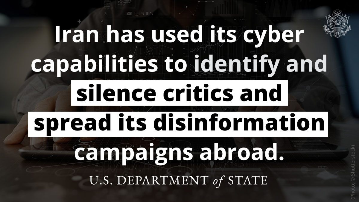Iran has increasingly deployed [malign behavior in cyberspace] against a variety of U.S.-based entities including financial companies, universities, and critical energy infrastructure. https://t.co/YkQ9ulzULF https://t.co/doo6wqRyvY