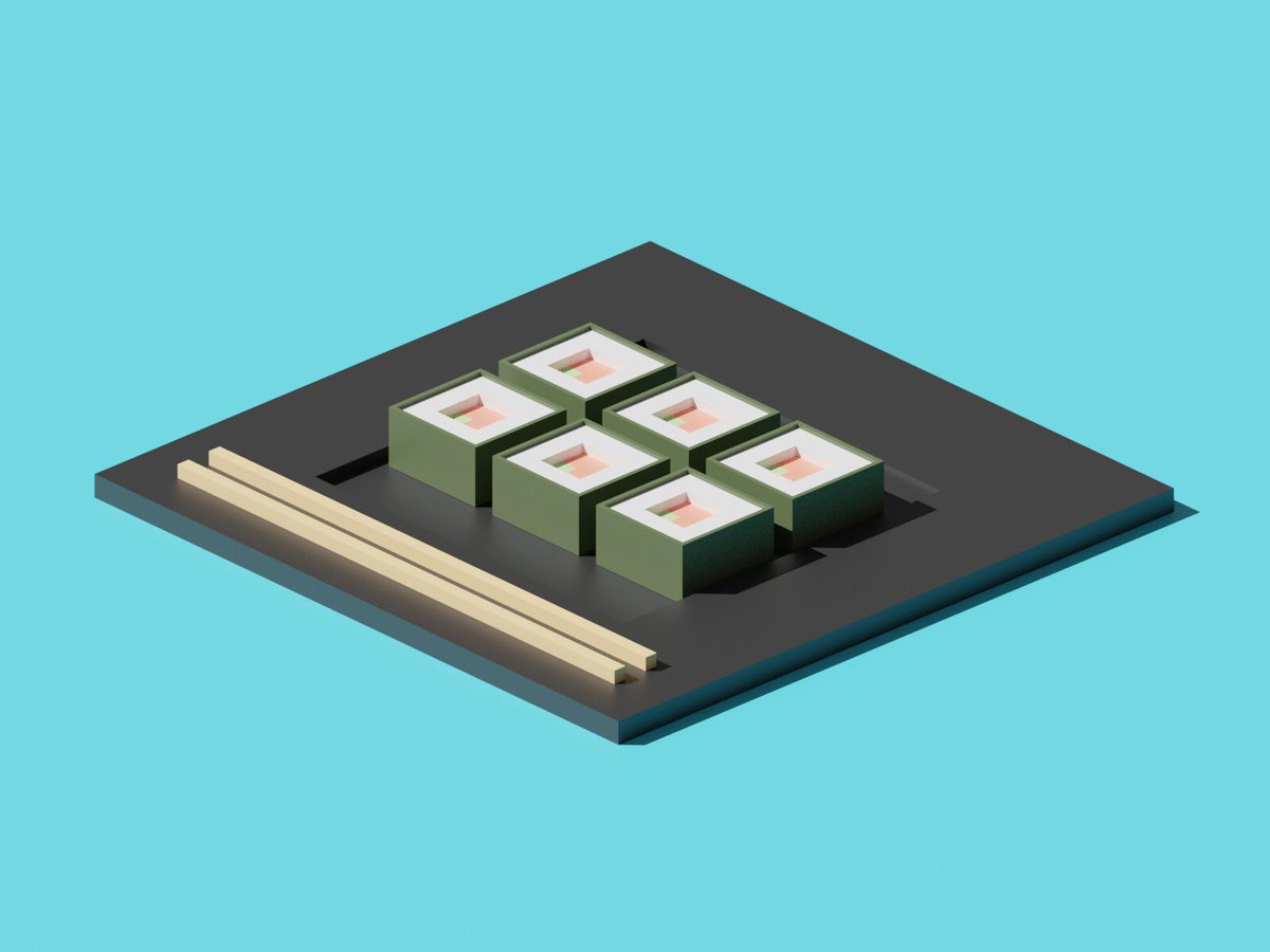 Just start @polygonrunway 3d course 🙌✨  #3dart #lowpoly #sushi #Blender3d #blender https://t.co/9okvRI7WZ6