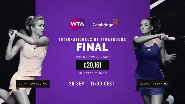 Elena Rybakina and @ElinaSvitolina will face off for the first time in the @WTA_Strasbourg final.  Everything you need to know about today's doubles and singles finals --> https://t.co/Rp6Wfs5Sa8 https://t.co/e4luD5fVAp