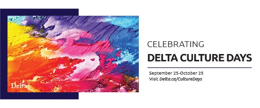 From September 25 through October 25, we'll be celebrating Culture Days in #DeltaBC!  We will be releasing content regularly at https://t.co/y7sZW7dYNn over the next month, including virtual programming, videos, and live-streamed events! https://t.co/9naJF9xn4V