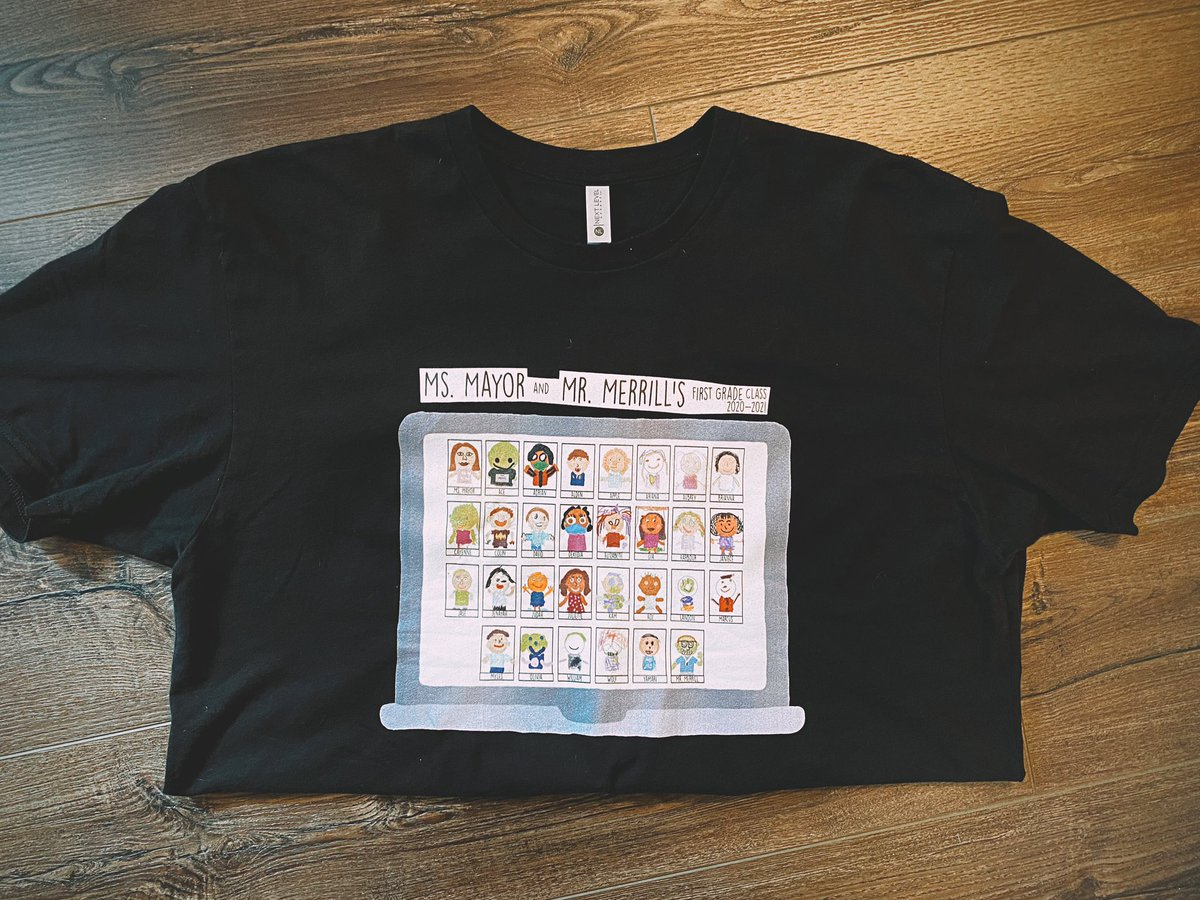 We want our students to understand that the work they do will always go beyond the classroom walls. 🌎   So, we made class shirts out of our day 1 assignment: @Seesaw selfies! 🤩  #interACTIVEclass #Seesaw #remotelearning #distancelearning #teaching #hybridlearning #KidsDeserveIt https://t.co/P6itvnLHYZ