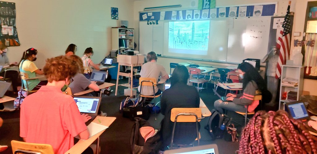 Masked up and moving through digitally-enhanced peer review conversations. I am so thankful for every effort everyone is making so we get to stay together - safe, healthy, and productive - each day.  #mystudentsinspireme #kidsdeserveit https://t.co/O3QoCzbegj