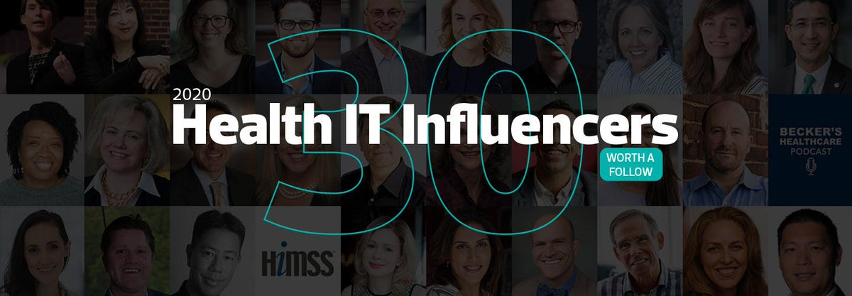 Quite the birthday gift. 🎁 Humbling to be named to the 2020 #HealthIT Influencers with giants like @Farzad_MD @EricTopol @SusannahFox @Berci @kevinmd @chrissyfarr @JohnNosta @WearablesExpert @nataliexdean @health20Paris @johnbrownstein & many others! healthtechmagazine.net/article/2020/0…
