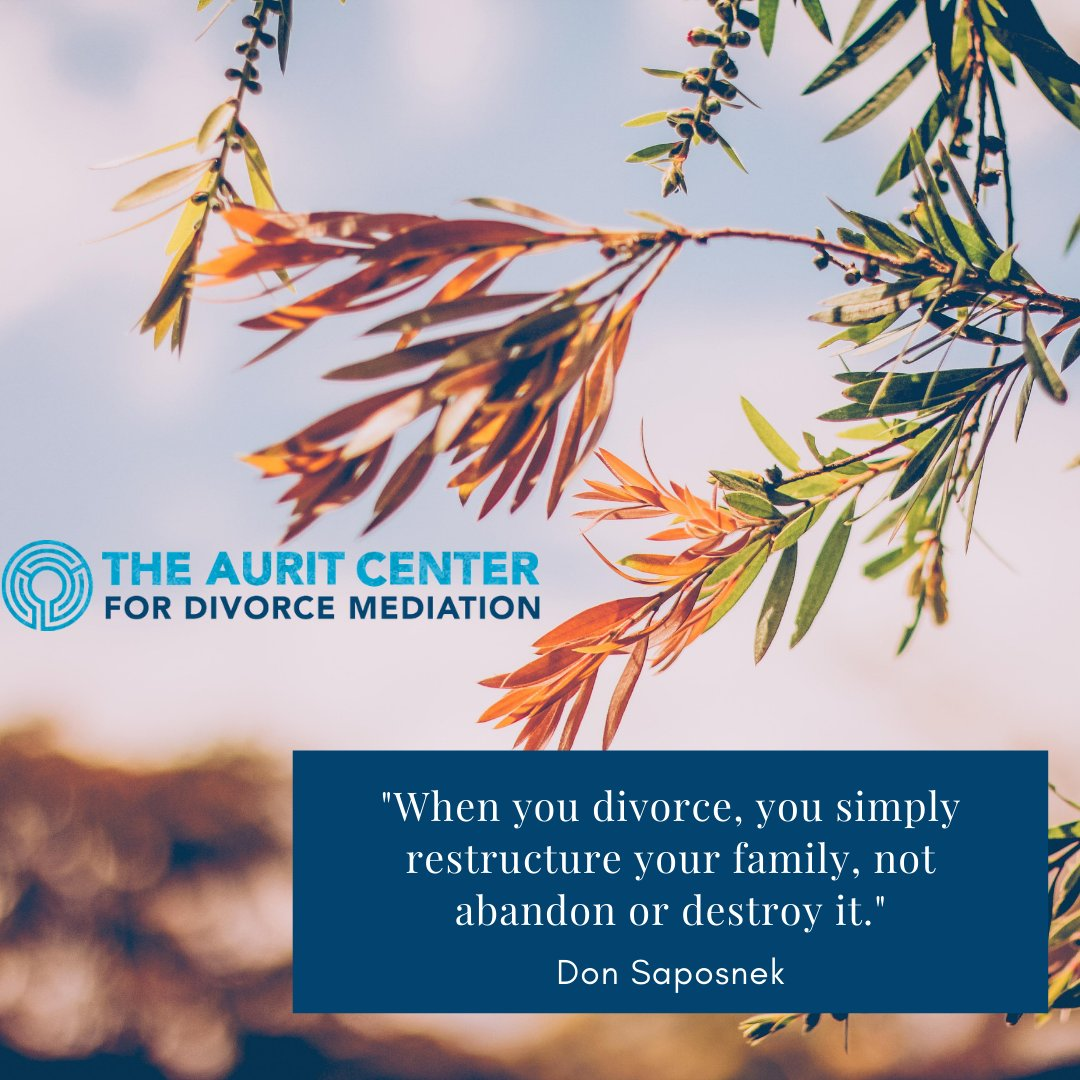 Remember that choosing to divorce is not choosing to destroy your family. Rather, you are choosing to restructure it.  #healthydivorce #divorce #mediation #parenting #coparenting #children #conflictresolution #healthy #choose #collaboration #support #quote #restructure #family https://t.co/YNu7iOIpLV