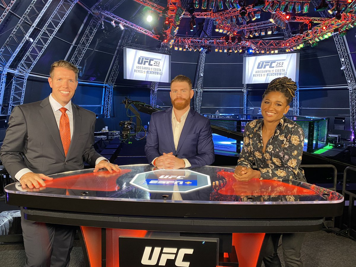 Good times hangin with the boooiys! Check us out on #UFCLive talking what's in store for #UFC253! https://t.co/gN2djgGmoq