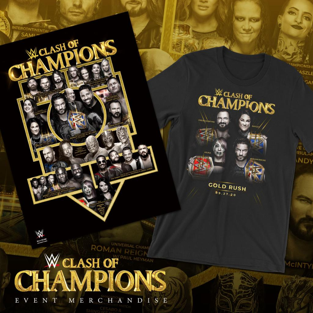 Gear up for the weekend showdown with the all new Clash of Champions 2020 merchandise! Get your gear right now at #WWEShop! #WWE  https://t.co/SYyvaUI76n https://t.co/FVoZ60tOZt
