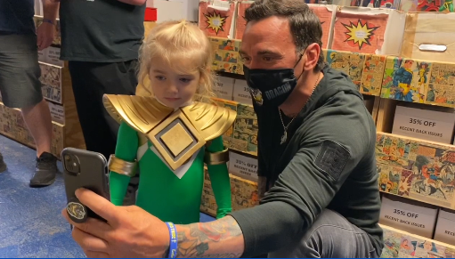 Jason David Frank makes a stop at 901 Comics. He played the green ranger on the Mighty Morphin Power Rangers. Frank started the Power Rangers Protection Program helping local comic book stores during COVID. https://t.co/gbrgQPalrT