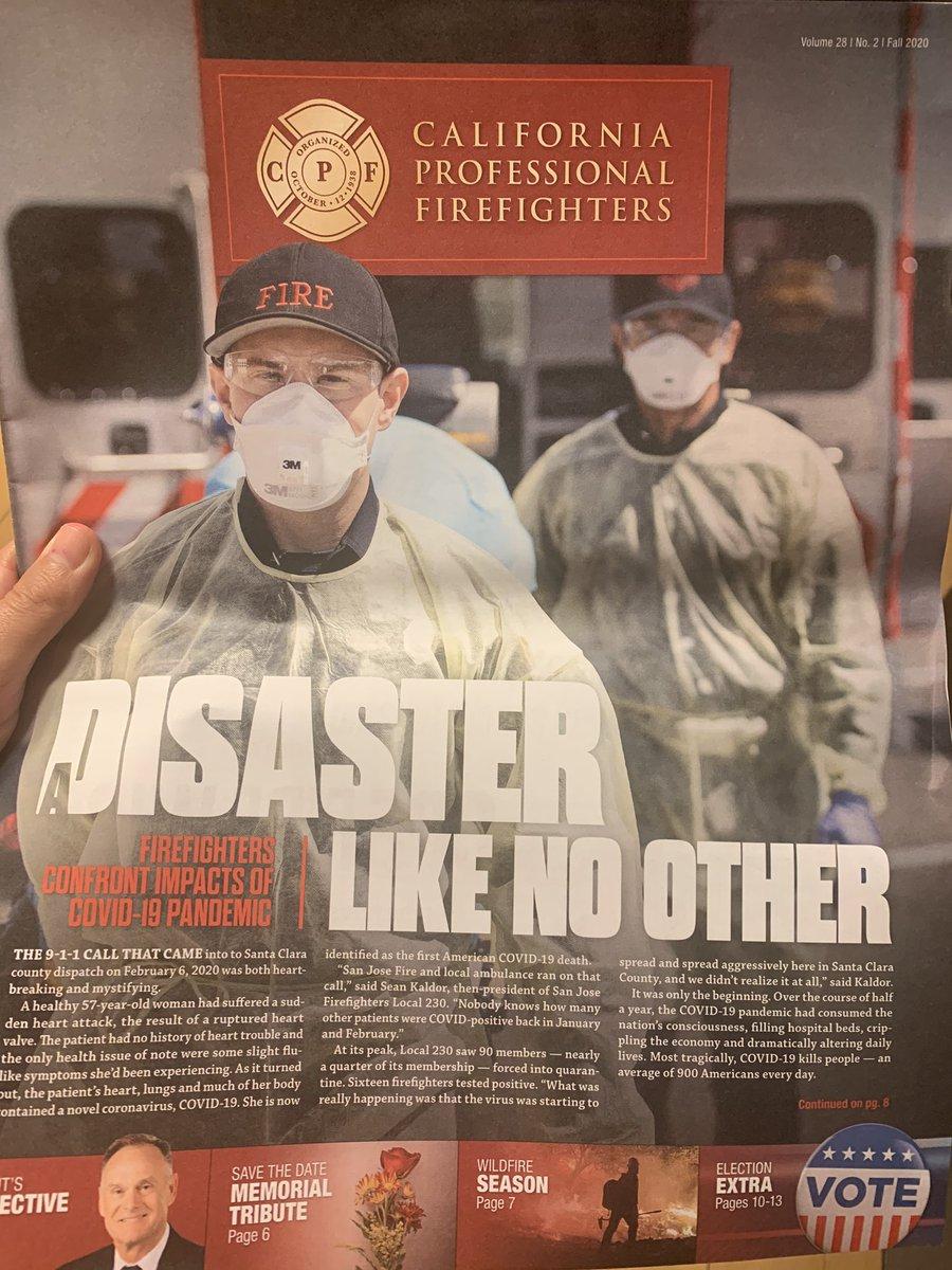California Firefighter's Association on COVID.