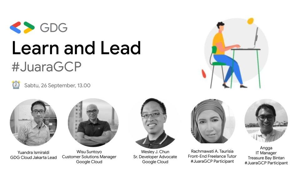5️⃣ Menit lagi yuk gabung, Learn & Lead with #JuaraGCP  👇🏼👇🏼👇🏼