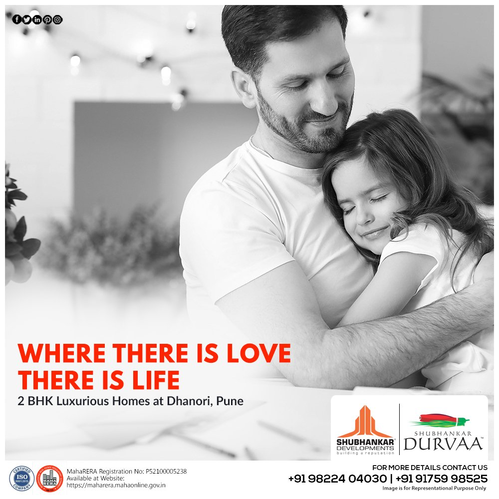 Where there is Love there is life 2 BHK Luxurious Homes at Shubhankar Durvaa  For more details contact us +91 9822404030, +91 9175998525 https://t.co/HlLVqbtdNC  #flat #realestate #property #realtor #newhome #home #investment #shubhankardevelopments #2bhk #Pune https://t.co/ehZ548tEbe