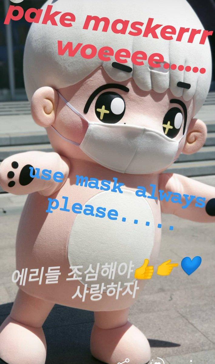 be aware everyone and use mask always 👉💙 #EXO #EXOL MELAWAN CORONA #WEAREONE #사랑하자 https://t.co/IMDCjbv1uc