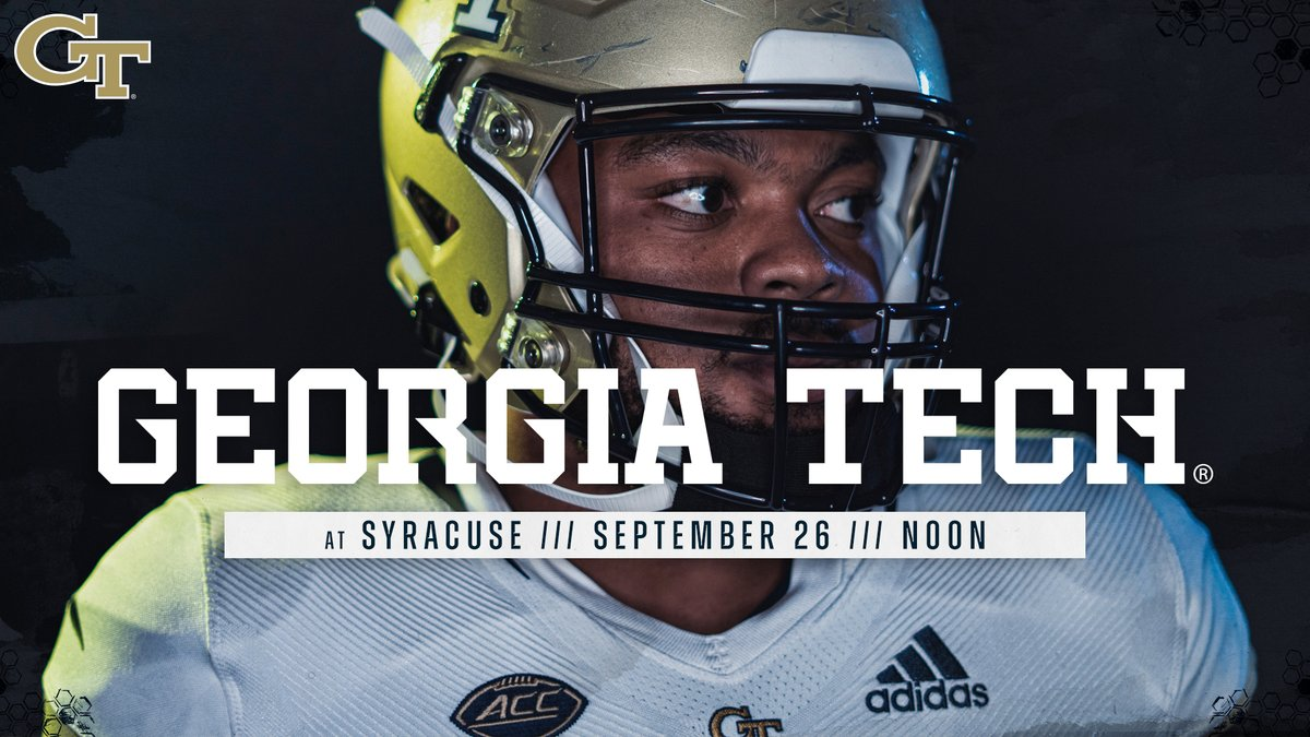 Be sure to follow @GeorgiaTechFB for live in-game updates of #GTvsCUSE. Kickoff coming up on RSN / @FoxSportsSouth. #TogetherWeSwarm #4the404