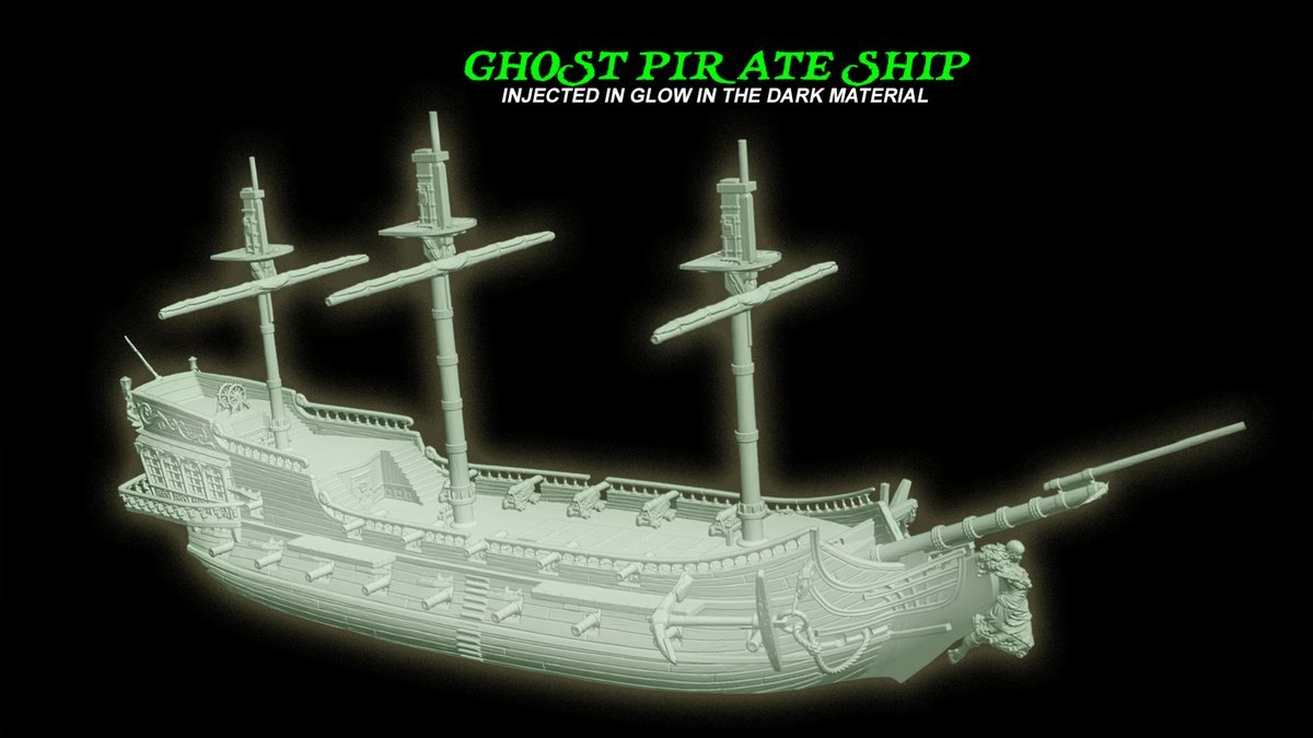The kickstarter will be out tonight, we will post as soon as it's posted. But we wanted to let everyone know that the Glow in the Dark pirate ship is now up on the https://t.co/M1kaH1aKoj *Only 500 available at the moment* - More details to follow in the Kickstarter update later. https://t.co/eJhGw9FpMo