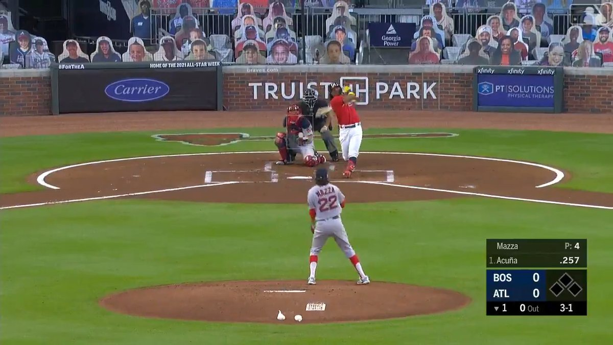 495ft. FOUR HUNDRED AND NINETY FIVE FEET FOR ACUNA.  https://t.co/eyX5c5Wtoj