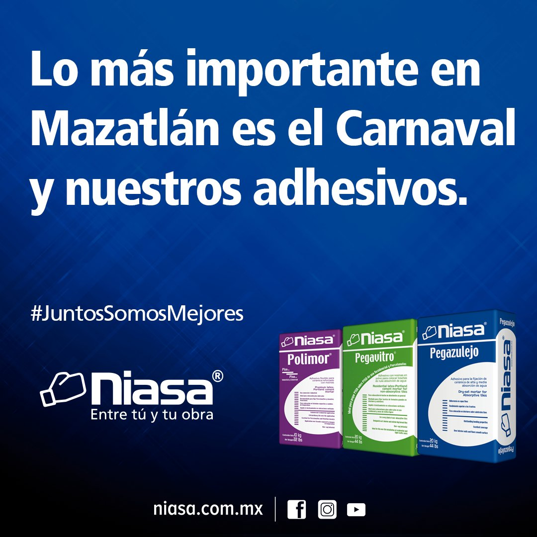 Lo más importante en #Mazatlán es el Carnaval  y nuestros adhesivos.  https://t.co/VoZo0QiJqH  #JuntosSomosMejores https://t.co/2fXf87VQPP