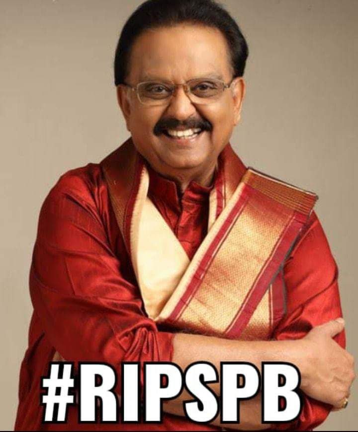 💐💐भावपूर्ण श्रद्धांजली🙏🙏  #SPBalasubrahmanyam #SPB #BollywoodBreaking2020 #Bollywood https://t.co/LiYApqJFRL