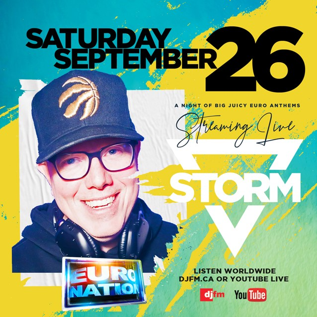 TOMORROW NIGHT! DJ STORM makes his return with the most electric BIG JUICY EURO ANTHEMS! We've got all your favorites for over TWO HOURS!! Turn us up LIVE at 10pm est on Saturday on https://t.co/1Jlq2uEJNj & YOUTUBE LIVE!! #Eurodance #90s #DJStorm #saturdaynightfever https://t.co/qNqLXS7l2j